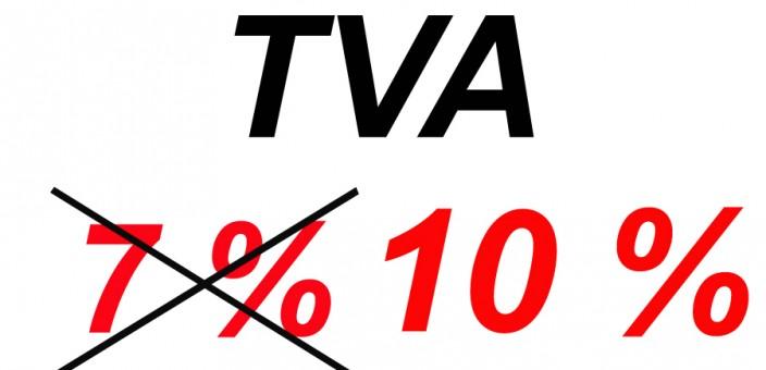 Hausse de la tva de 7% à 10% au 1er Janvier 2014
