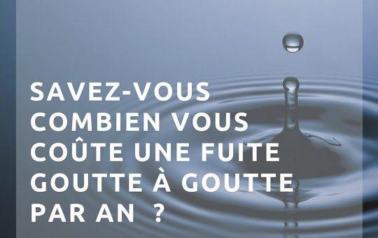 Savez-vous combien vous coûte une fuite d'eau ?